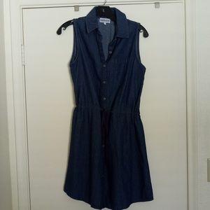 Kings Road Sleeveless Jean Dress